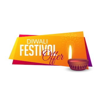 Festival de diwali oferece fundo de design de banner de voucher