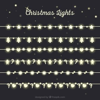 Figuras das luzes de Natal