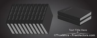 Fileira de livros preto vetor