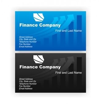 Finanças elegante cartões de visita set