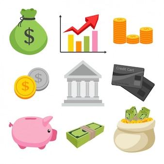 Finanças elementos de design