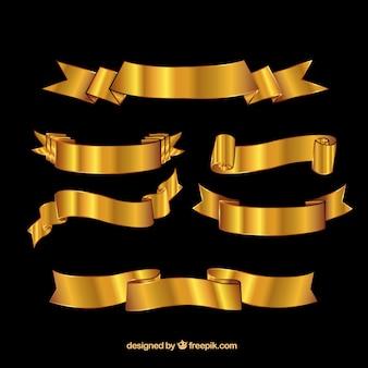 Fitas douradas Retro