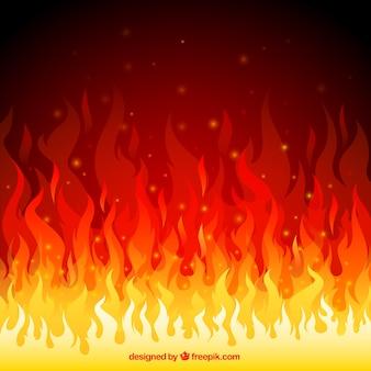 Flamas do incêndio fundo