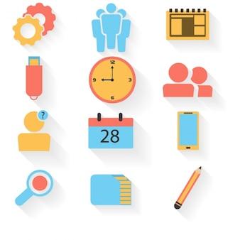 Flat pack de elementos de negócios