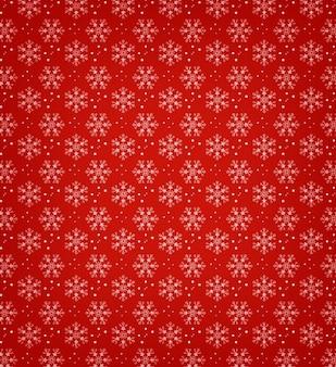 Flocos de neve com fundo redgreen