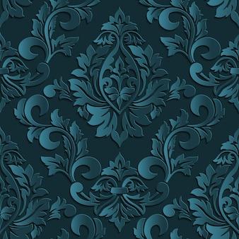 Flor, ornamentado, Textured, retro, repetição