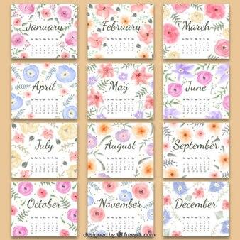 Floral 2016 calendário