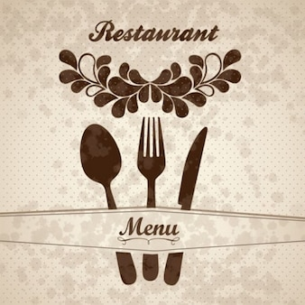Floral menu de restaurante