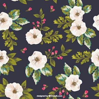 flores pintados mão do fundo