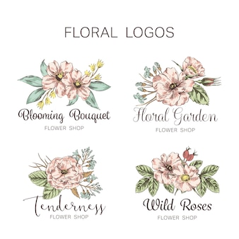 Flower Logo Shop