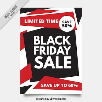 Folheto abstrato de ofertas black friday
