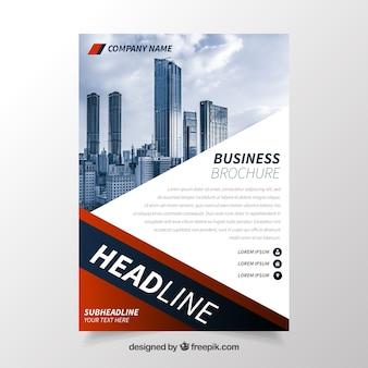 Folheto comercial com estilo profissional