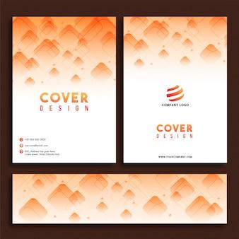 Folheto comercial Design de capa e conjunto de cabeçalho da Web.