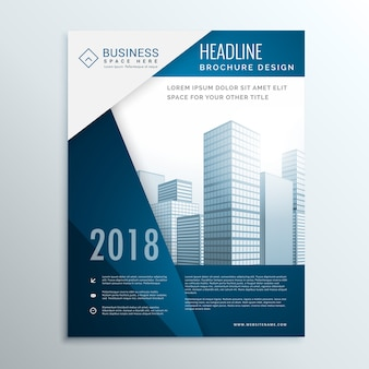 Folheto comercial folheto design da página de rosto para o relatório anual ilustração vetorial