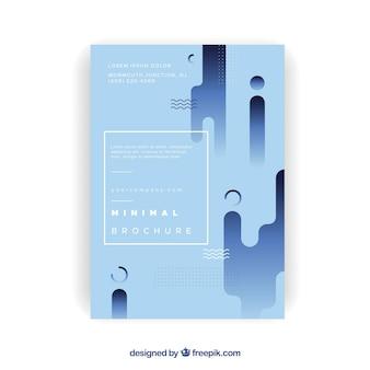 Folheto corporativo com formas em design plano