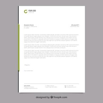 Folheto corporativo com formas verdes