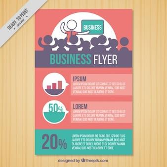 folheto da empresa com uma apresentação de negócios