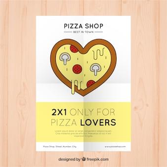 Folheto de desconto para amantes da pizza