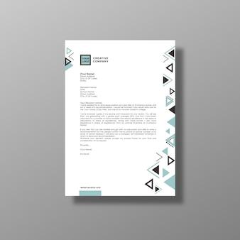 Folheto de negócios branco geométrico