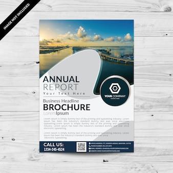 Folheto de negócios com design de onda