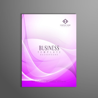 Folheto de negócios ondulado moderno e elegante