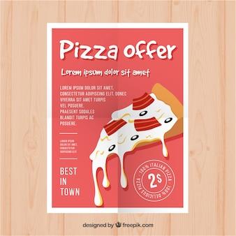 Folheto de oferta de pizza e queijo delicioso