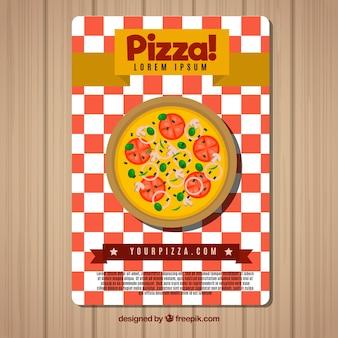 Folheto de pizza com tomate