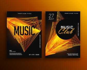 Folheto do clube de música modelo de design do cartaz