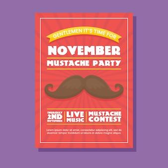 Folheto do partido Movember