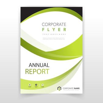 Folheto do relatório anual verde moderno