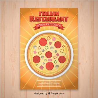 Folheto do restaurante italiano