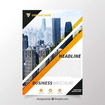 Folheto elegante com estilo comercial