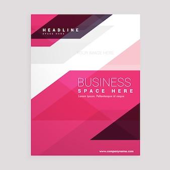 Folheto geométrico rosa flyer business relatório anual modelo de design de capa de laflet