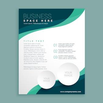 Folheto informativo folheto folheto modelo de design em A4