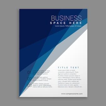 Folheto moderno de negócios geométricos em azul e branco
