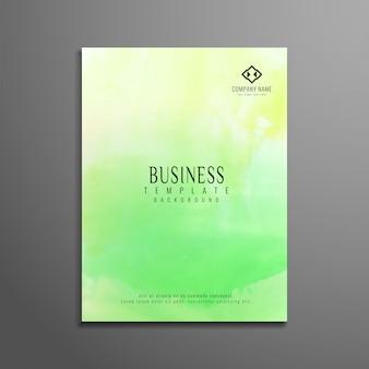 Folheto moderno para negócios de aquarela verde