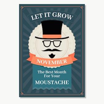 Folheto Retro Movember