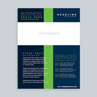 Folheto simples apresenta o design do modelo do flyer para o seu negócio