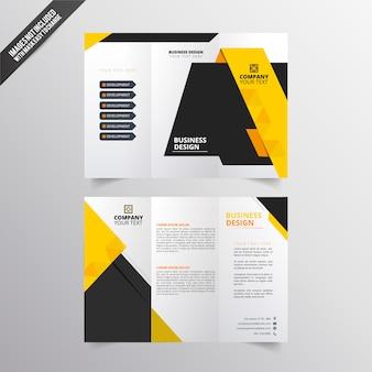 Folhetos de negócios amarelos e pretos