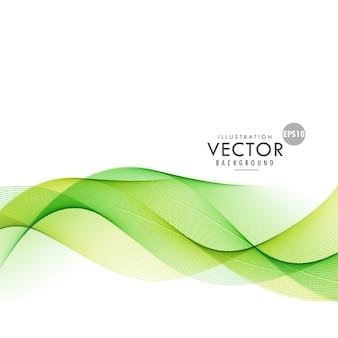 Forma ondulada verde moderna fundo abstrato