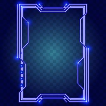 Formas abstratas com luzes azuis