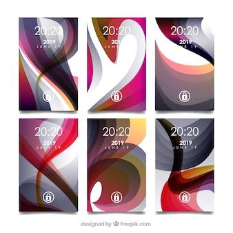 Formas abstratas da coleção móvel