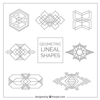 Formas geométricas embalar em estilo Art Deco