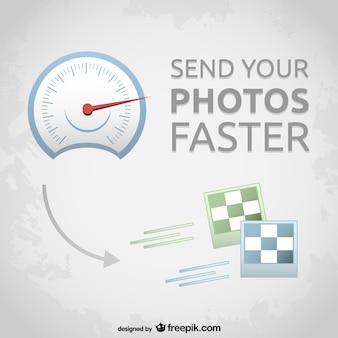Fotos velocímetro transferência vetor