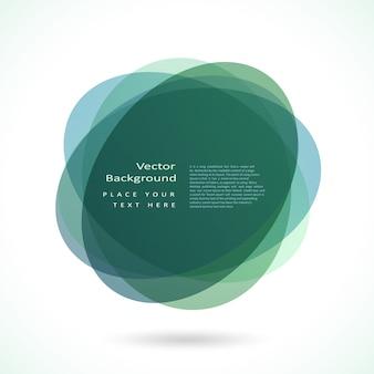 Frame de círculo abstrato