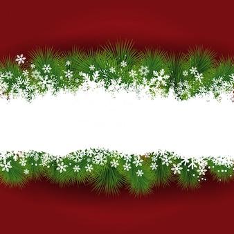 Frame do Natal com fundo vermelho