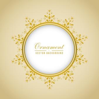 Frame dourado circular ornamental