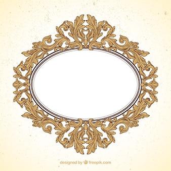 Frame oval no estilo ornamental