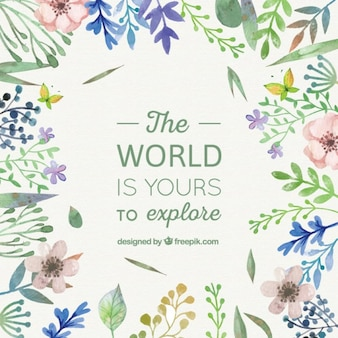 frase mundo Floral