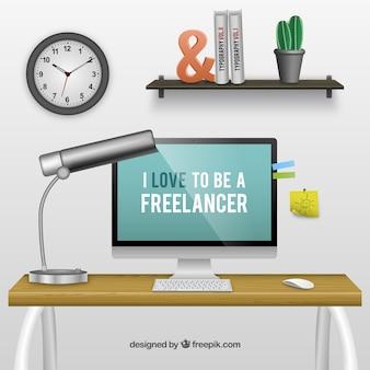 Freelancer espaço de trabalho